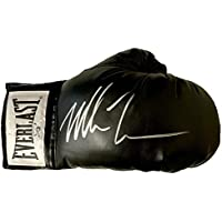 $181 » Mike Tyson Autographed Signed Right Black Boxing Glove Hologram Authentication - Autographed Boxing Gloves