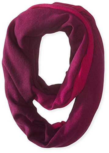 Sofia Cashmere Womens Dip Dye Infinity Scarf Plum Combo One Size