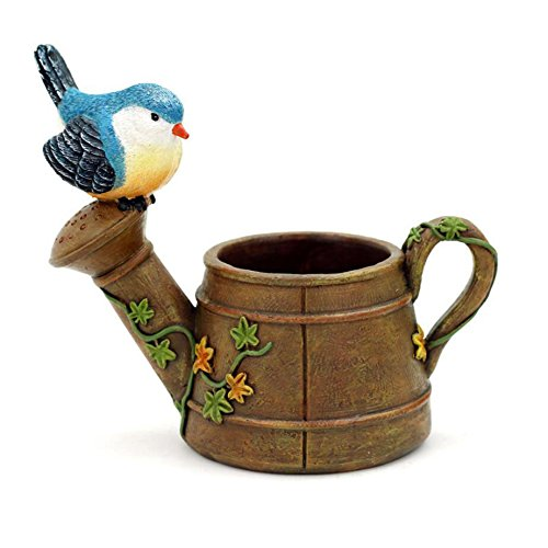 NWFashion Shower/Pot Cute Bird Stute Planter, Flower and Succulent Plant Pot ()