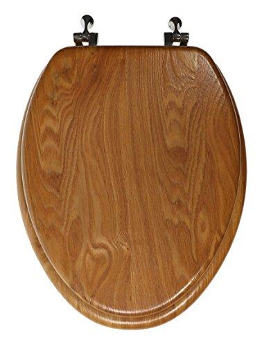 Luxury Real Wood Veneer Natural Toilet Seat - 18.5