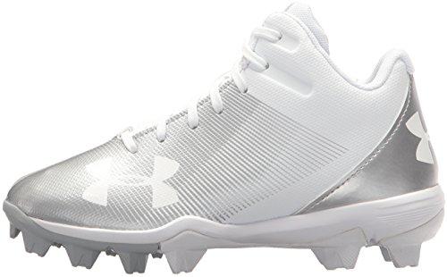 bc5c5d940fdb Under Armour Boys' Leadoff Mid Jr. RM Baseball Shoe, White (100 ...