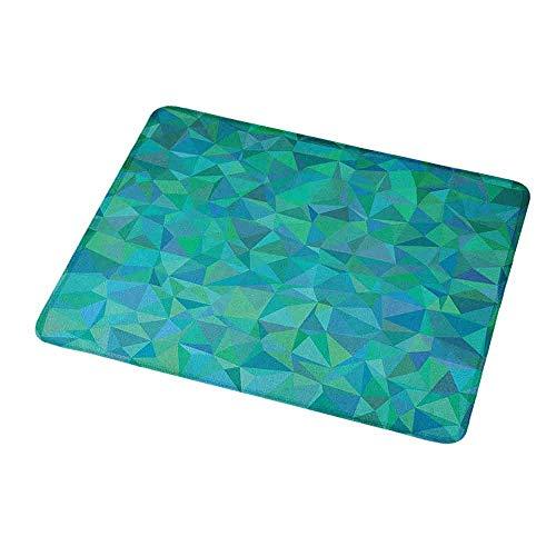 Irregular Potato - Mouse Pad Custom Design Teal,Abstract Irregular Triangle Mosaic Design and Geometrical Modern Art Image Pattern,Green Navy,Non-Slip Rubber Comfortable Customized Computer Mouse Pad 9.8