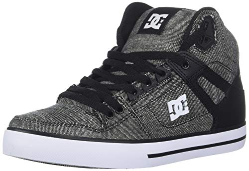 (DC Men's Pure HIGH-TOP WC TX SE Skate Shoe, Black/Grey/White, 10.5D M US)