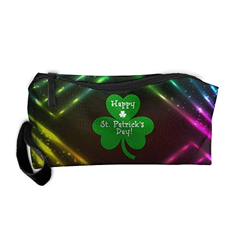 kjaoi Cosmetic Bag St-Patricks-Day-png Brush Pouch Makeup Bag Zipper Wallet Hangbag Carry Case Pen Organizer Wristlet Holder ()