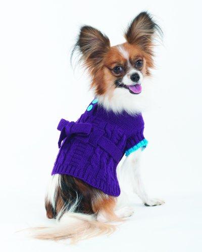 Fashion Pet Lookin Good Sorority Girl Sweater Dress for Dogs, XX-Small, My Pet Supplies