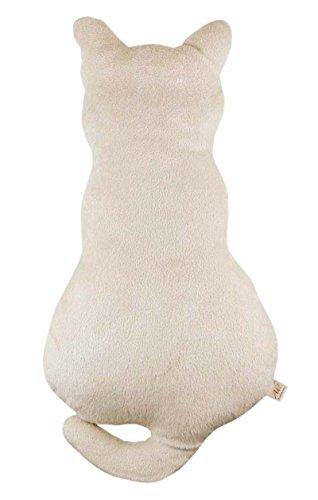 DIS Plüsch Katze Kater Figur Zierkissen Plüschtiere Stoffspielzeug Plüschkissen, 2 Fraben, 2 Größen (weiß 70CM)