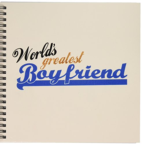 3dRose db_151288_1 Worlds Greatest Boyfriend Best Boy Friend Ever ロマンチックな関係ギフト デート記念日図画帳、8x8インチ