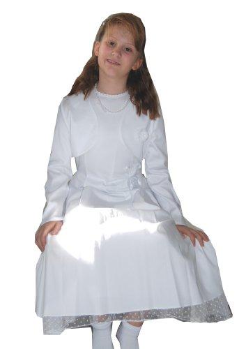Jäckchen B Junior Kommunionkleid Weiß mit Empire Kleid qZ11dwX