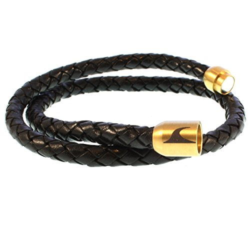 697670865631 Nuevo wavepirate® Piel de pulsera Hawaii g negro oro hombre - www ...