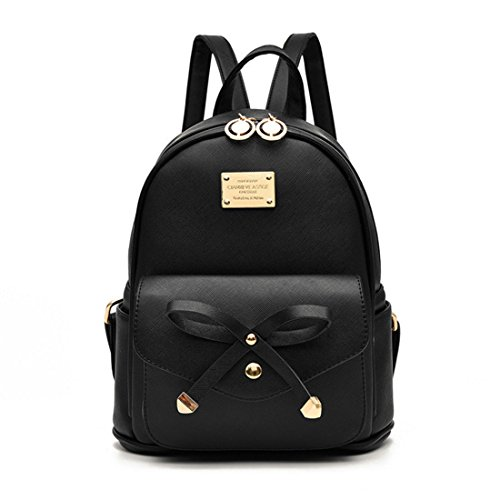 Cute Mini Leather Backpack, Eleganty Fashion Small Daypacks Purse For Girls and Women