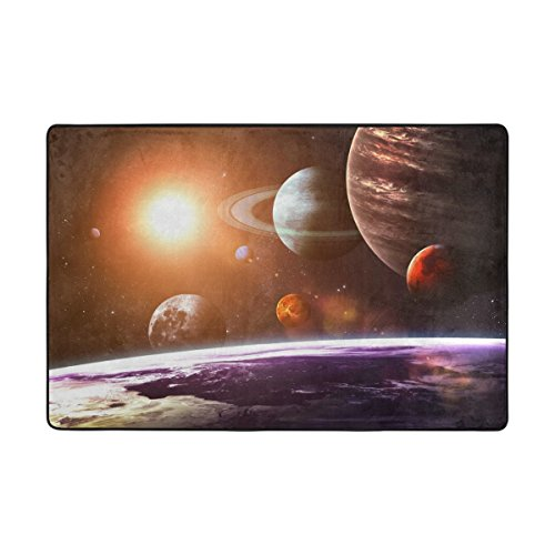 Ethel Ernest Non-slip Doormat Solar System Planets Area Rug Carpet Floor Mats Door Mat Indoor Outdoor Bathroom by COLMAT