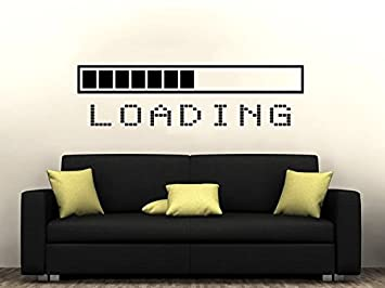 Loading Bar Wall Decal Vinyl Sticker Decals Gaming Video Game Boy - Wall decals bedroom
