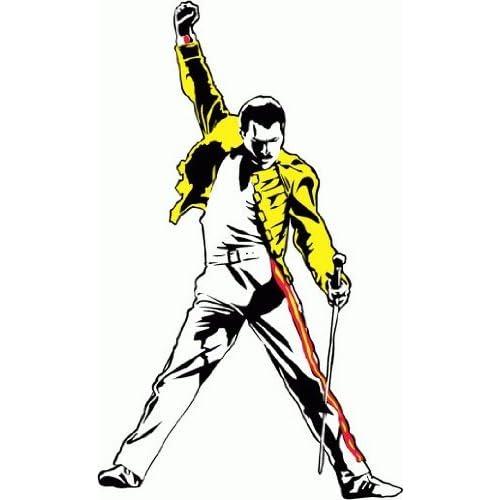 Freddie Mercury Queen Music De Haute Qualite Pare-Chocs Automobiles Autocollant 8 x 12 cm