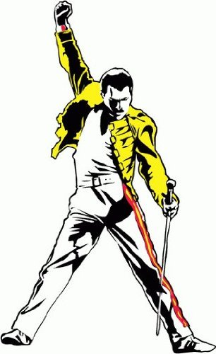 Image result for freddie mercury clipart