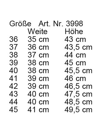 HKM bota - country -, longitud estándar / - ancho - negro