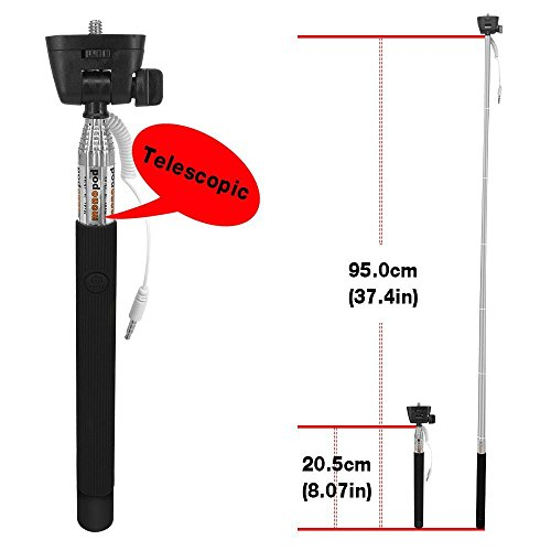 100pcs Bulk Sales No Battery No Bluetooth No Wifi Portable Foldable Extendable Durable Universal Selfie stick Adjustable Phone Holder Mount Stand for IOS Android Smartphones Apple iPhone 6 Plus Promo by Generic (Image #4)