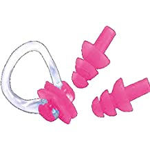 Andy Pansy Silicone Earplugs Swimmers - (ONE PAIRS) Soft and Flexible Ear Plugs with Nose Clip for Swimming or Sleeping