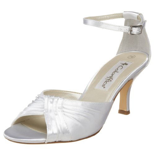 Coloriffics Metallic Sandals - Coloriffics Women's Nola Sandal,White,6 M US