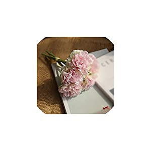 Artificial Flowers Peony Bouquet for Wedding Decoration 5 Heads Peonies Fake Flowers Home Decor,Light Pink 25