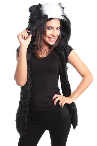 Skunk Full Animal Hood /Animal Hat 3 in 1 Function