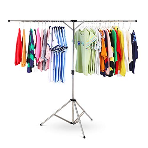 JIAJU Airer- Clothes Airer Racks, Folding Stainless Steel Adjustable Tripod Laundry Drying Rack (with Storage Bag) (Size : 165cm)