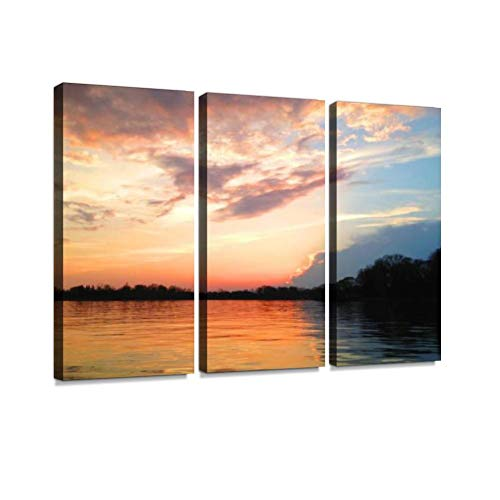 The Landscape on The Shore of The Chesapeake Bay in Maryland, USA. Print On Canvas Wall Artwork Modern Photography Home Decor Unique Pattern Stretched and Framed 3 Piece