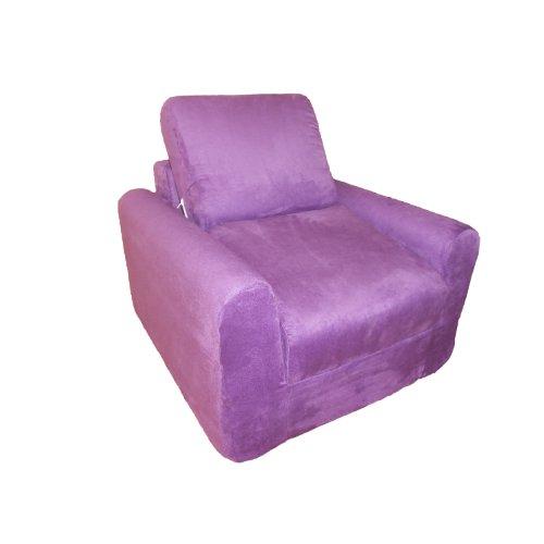 - Fun Furnishings Chair Sleeper, Purple Micro Suede