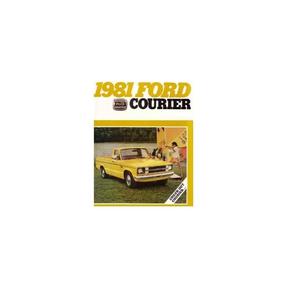1981 FORD COURIER Sales Brochure Literature Book Piece