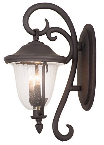 Santa Barbara Porch Light - Kalco 9001MB Santa Barbara Outdoor 2 Light Wall Sconce Bracket, Small