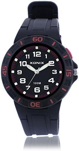 Boys Girls多機能クォーツスポーツ腕時計、100 M防水LED Jelly樹脂ストラップアウトドアファッション子wristwatch-h