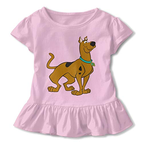 - Kim Mittelstaedt Scooby Doo Children's Short Sleeve T-Shirt Girl's Cute Soft Cotton Dress Pink 2T