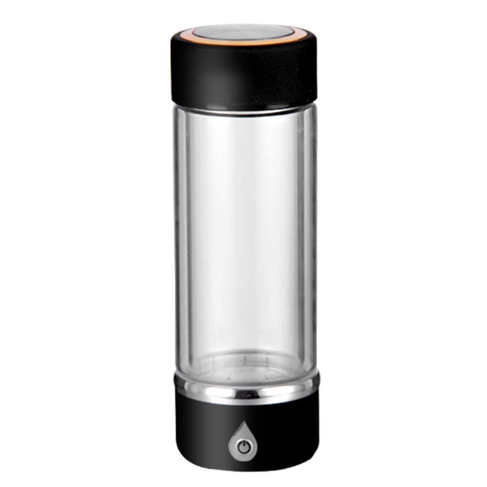 AUNLPB Bottiglia di Acqua dell'idrogeno Portatile di 3 Minuti 420ML, Tazza di Vetro, Bottiglia di Acqua idrogenata del generatore di Acqua ionizzato Ricaricabile,Black Prezzi