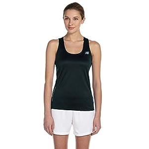 New Balance Tempo Ladies Running Singlet, Black, Large