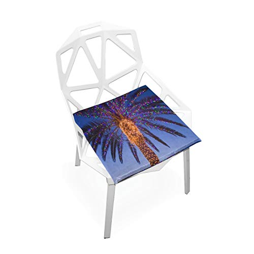 (Seat Cushion Shiny Palm Tree Chair Cushion Offices Butt Chair Pads Square Car Mat for Outdoors)