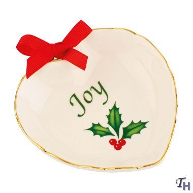 Heart Lenox (Lenox 841645 Mto Heart With Ribbon Joy Candy Dish)