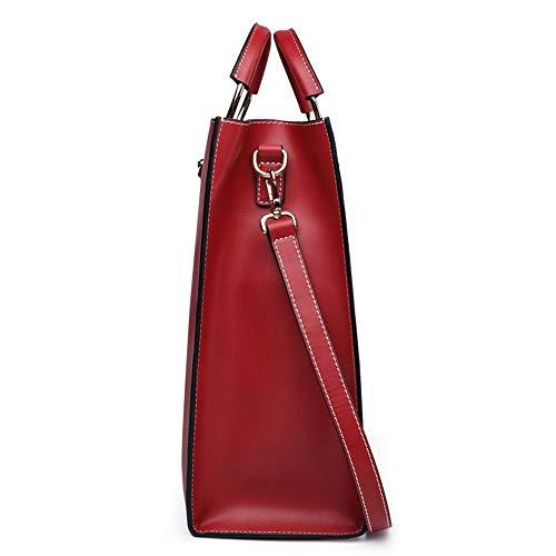 a tracolla Borsa a Totes Bag Colore semplice Nero a tracolla Memoria Commuter donna Borsa tracolla Joker Rosso Xuanbao Borse rossa tracolla Tote donne delle da a femminile qUxCngH1w