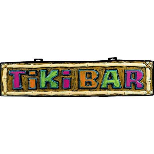 Tiki Bar Sign (Amscan Tiki Bar Vac Form Party Sign, 10