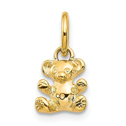 14k Yellow Gold Teddy Bear Pendant Charm Necklace Baby Fine Jewelry Gifts For Women For Her