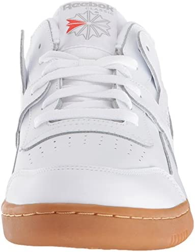 Reebok Men's Workout Plus Cross Trainer, White/Carbon/Classic Red, 5 M US