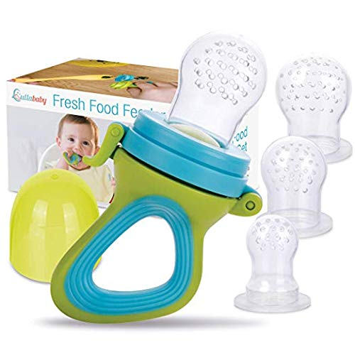 Fresh Food & Fruit Feeding Pacifier – 3 Different Sized Silicone Teething Pacifiers | Great Baby Nibbler Food Feeder Teether | Baby Feeding Teething ...
