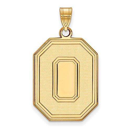 Roy Rose Jewelry 14K Yellow Gold LogoArt Ohio State University XL Pendant - Ohio State University Seal Pendant