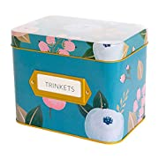 Recipe Box With 24 Cards & 12 Dividers by Polite Society (Blue Tin)