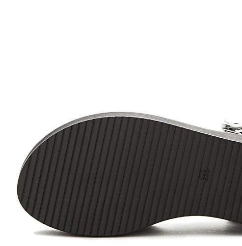 Sandalias de de Verano S de de de Ocasionales Planas Moda DHG Punta Dulces Zapatillas Color Mujer Sandalias Sandalias qOZtSgnSz