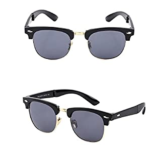Naladoo Men Women Square Vintage Mirrored Sunglasses Eyewear Outdoor Sports Glasses for Women (B)
