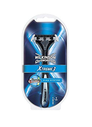 Wilkinson Sword Xtreme3 Razor Handle w/ 2 Refill Blades (Same As Schick Xtreme 3 Razor)