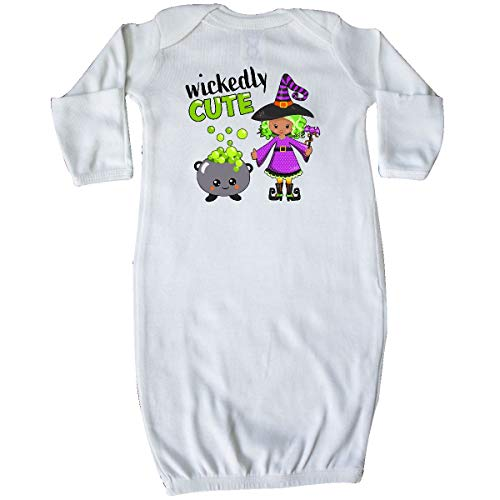 - inktastic Wickedly Cute-Halloween Witch Cauldron Newborn Layette White