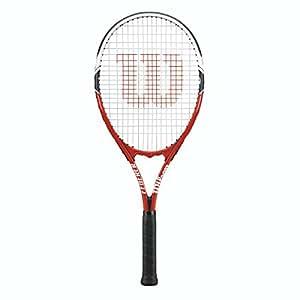 Wilson Federer Strung Tennis Racquet, 4 1/2-Inch, Red/White/Black