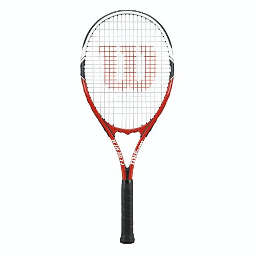 Wilson Federer Strung Tennis Racquet, 4 1/2-Inch, Red/White/Black (Racket Red Tennis)