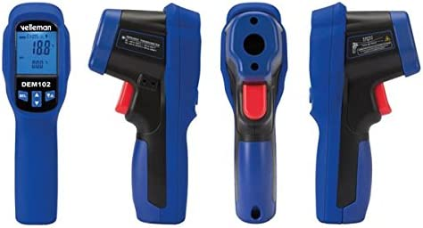 Multi-Colour Velleman DEM102 Infrared Thermometer with Type K Input