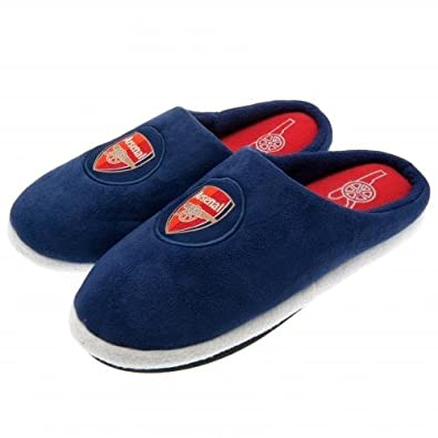 2b7c625abe6 New Mens Arsenal FC Gunners Football Mule Slippers Size 7-8  Amazon.co.uk   Shoes   Bags